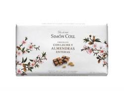 Pieninis šokoladas su migdolais SIMON COLL, 200g