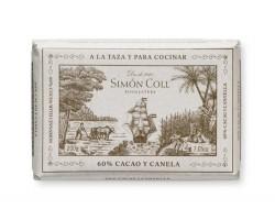 Juodasis šokoladas su cinamonu SIMON COLL 60%, 200g