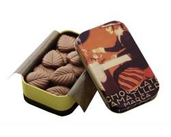 Pieninis šokoladas lapeliais AMATLLER, 30g