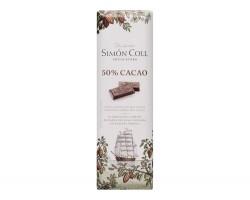 Juodasis šokoladas SIMON COLL 50%, 25g