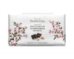 Juodasis šokoladas su migdolais SIMON COLL 50%, 200g