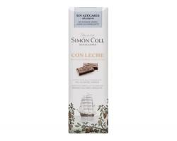 Pieniškas šokoladas be cukraus SIMON COLL, 25g