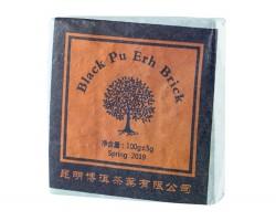 Juodosios Puero arbatos plokštė, 100 g (zhuancha 2019 m.)