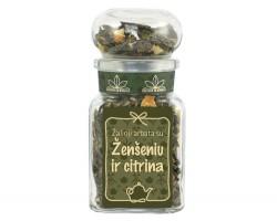Žalioji arbata su ŽENŠENIU IR CITRINA, 50g (stikl.)