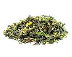 Žalioji arbata AHA su kanapių žiedynais ir ženšeniu